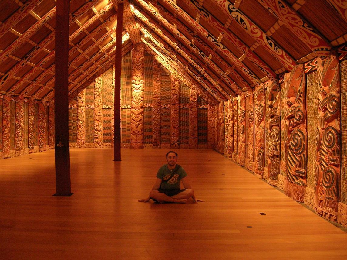 Ein traditionelles Maori Versammlungshaus