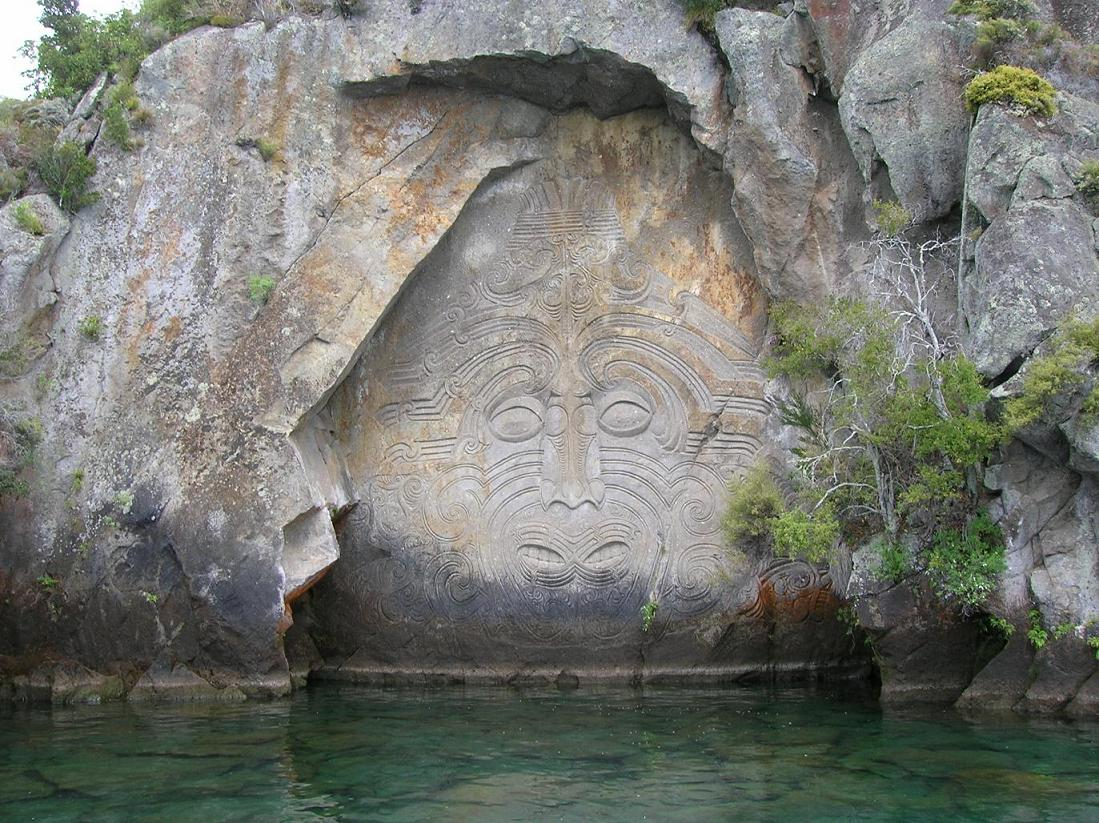 Felsskulpturen von Taupo