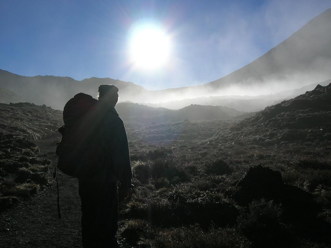 Morgendlicher Nebel mit morgendlicher Babs