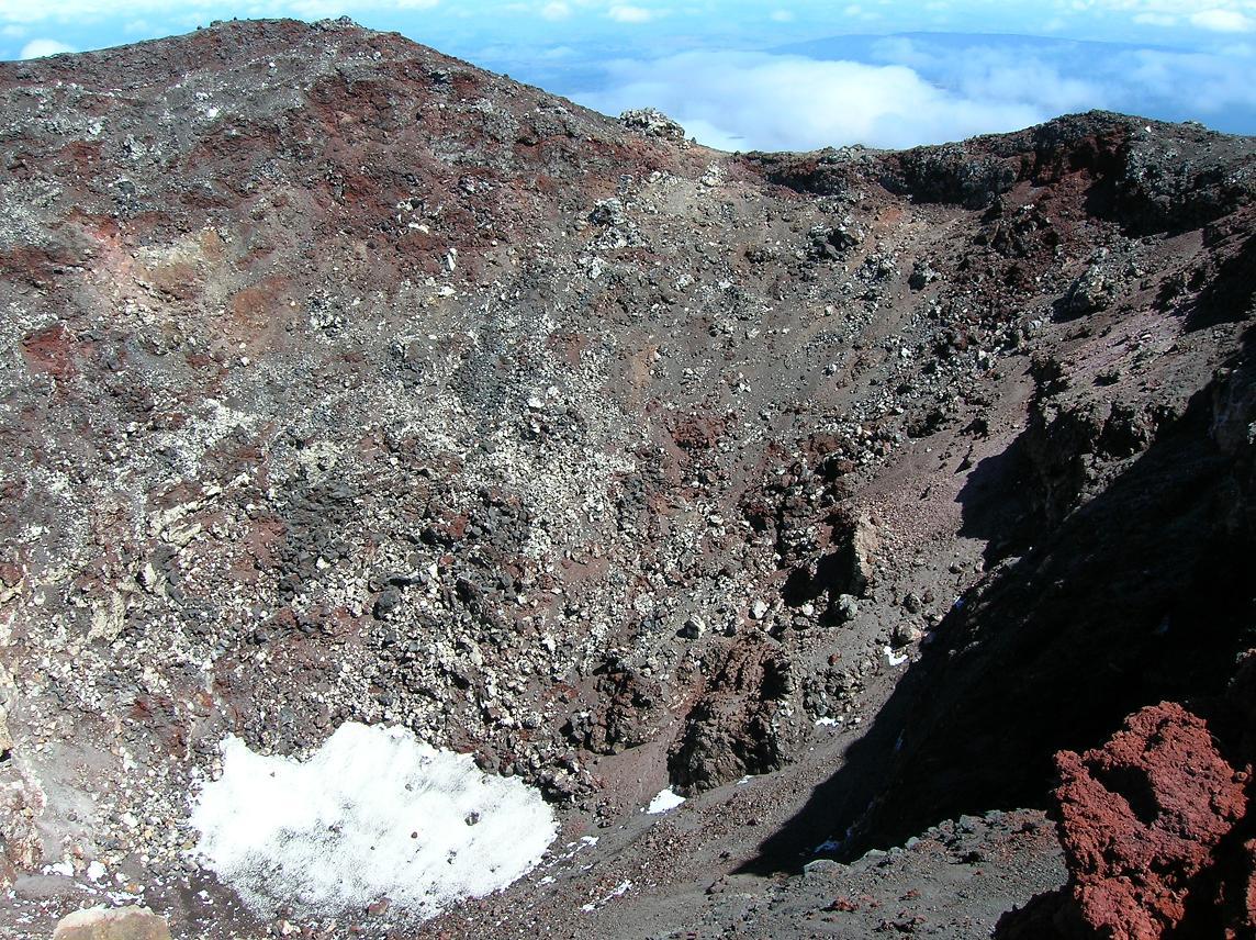 Der Blick in den Krater
