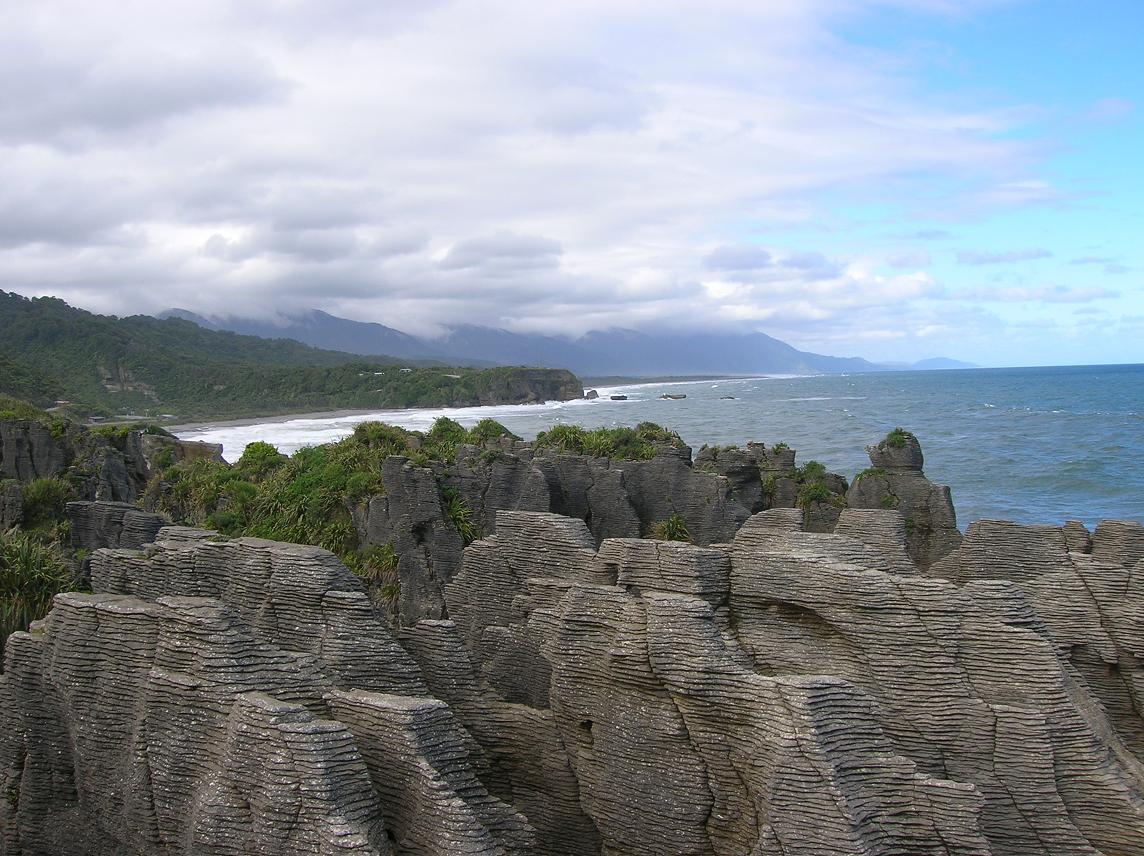 Pancake Rocks and Blowholes bei Punakaiki
