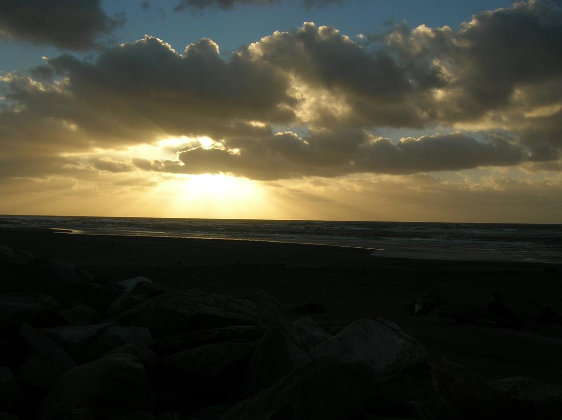 Sonnenuntergang bei Hokitika