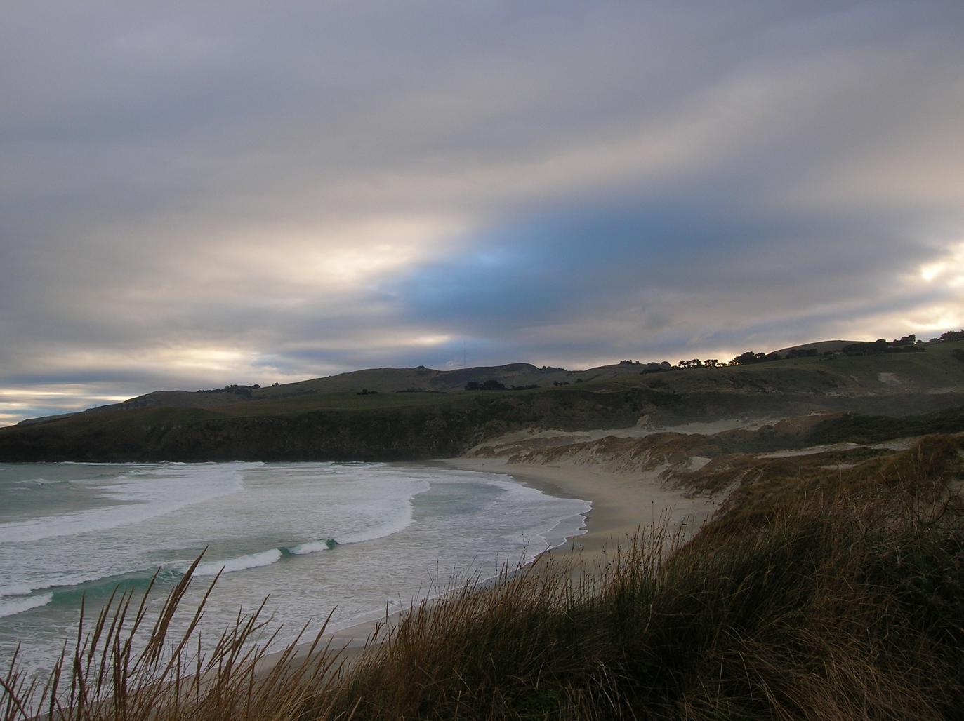 Dämmerung in der Sandfly Bay