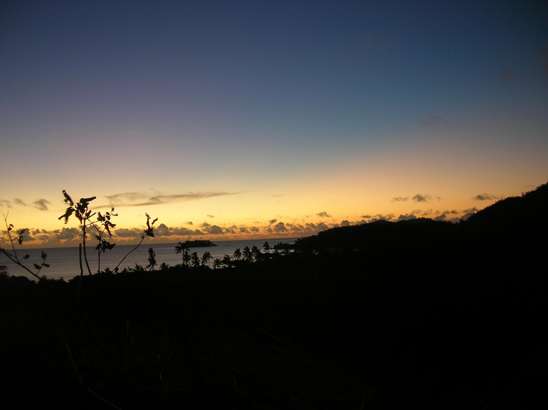 Sundown auf Malolo