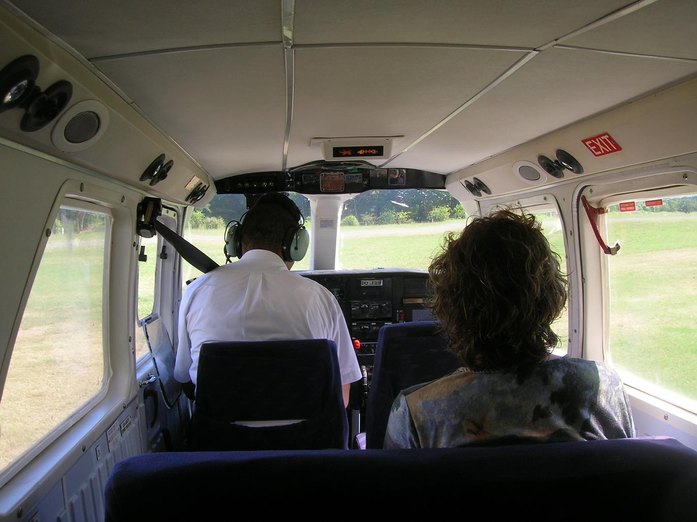 Hier ist der Kunde noch im persönlichen Kontakt mit dem Piloten …