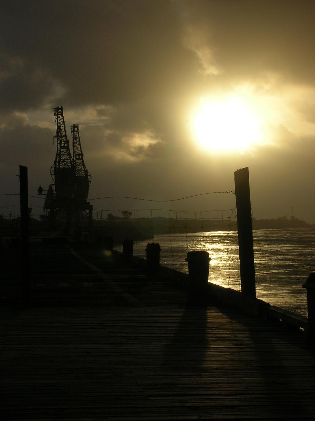 Der Hafen von Greymouth