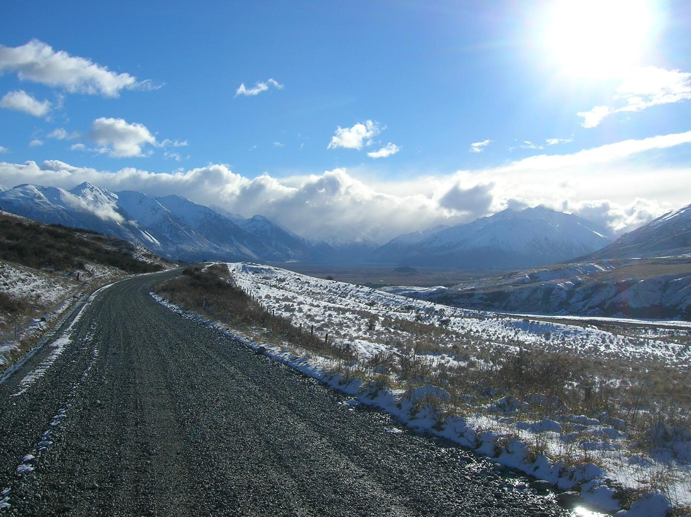 Straße zum Mt Sunday