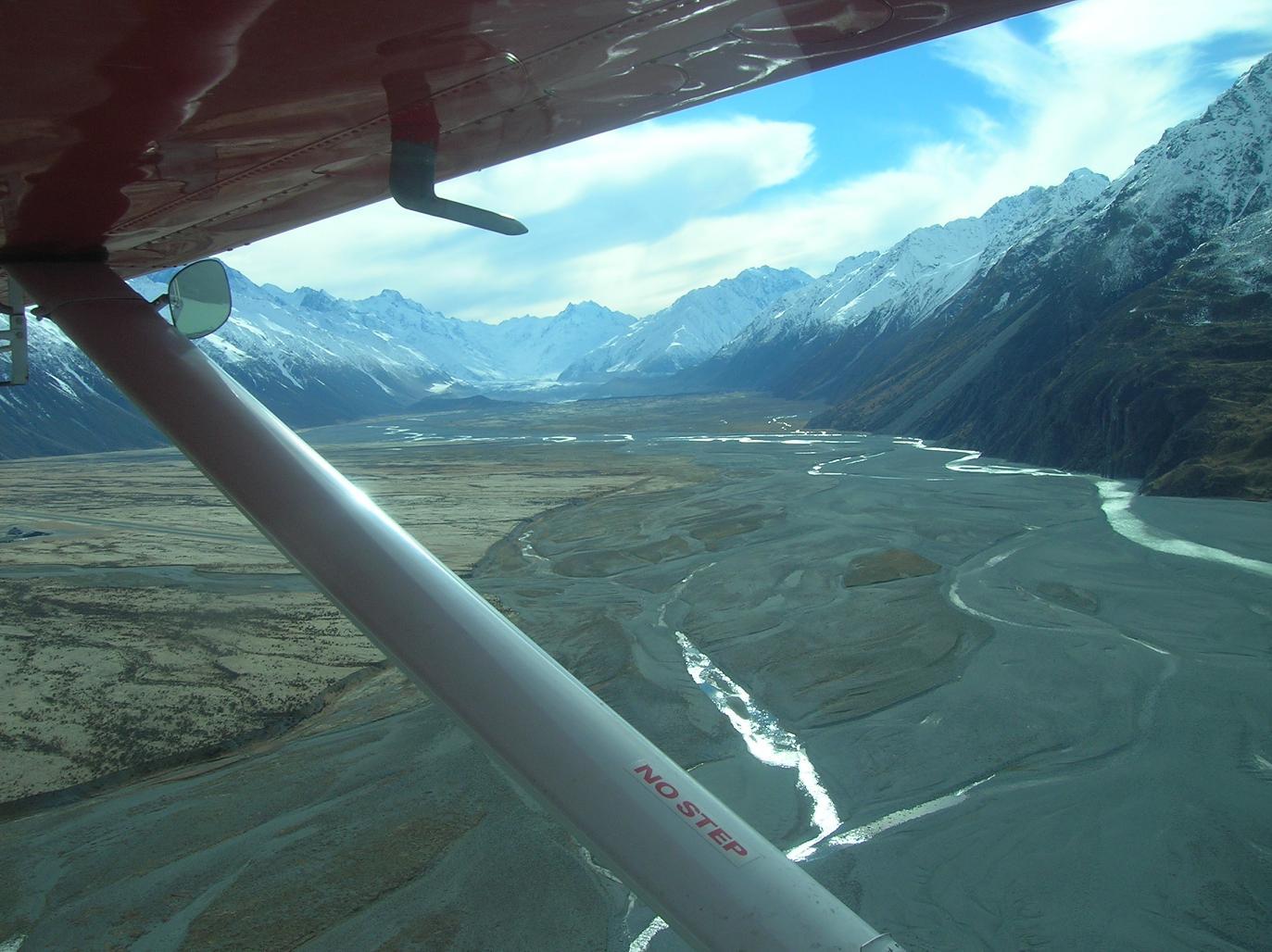 Von Fern: Der Tasman Glacier