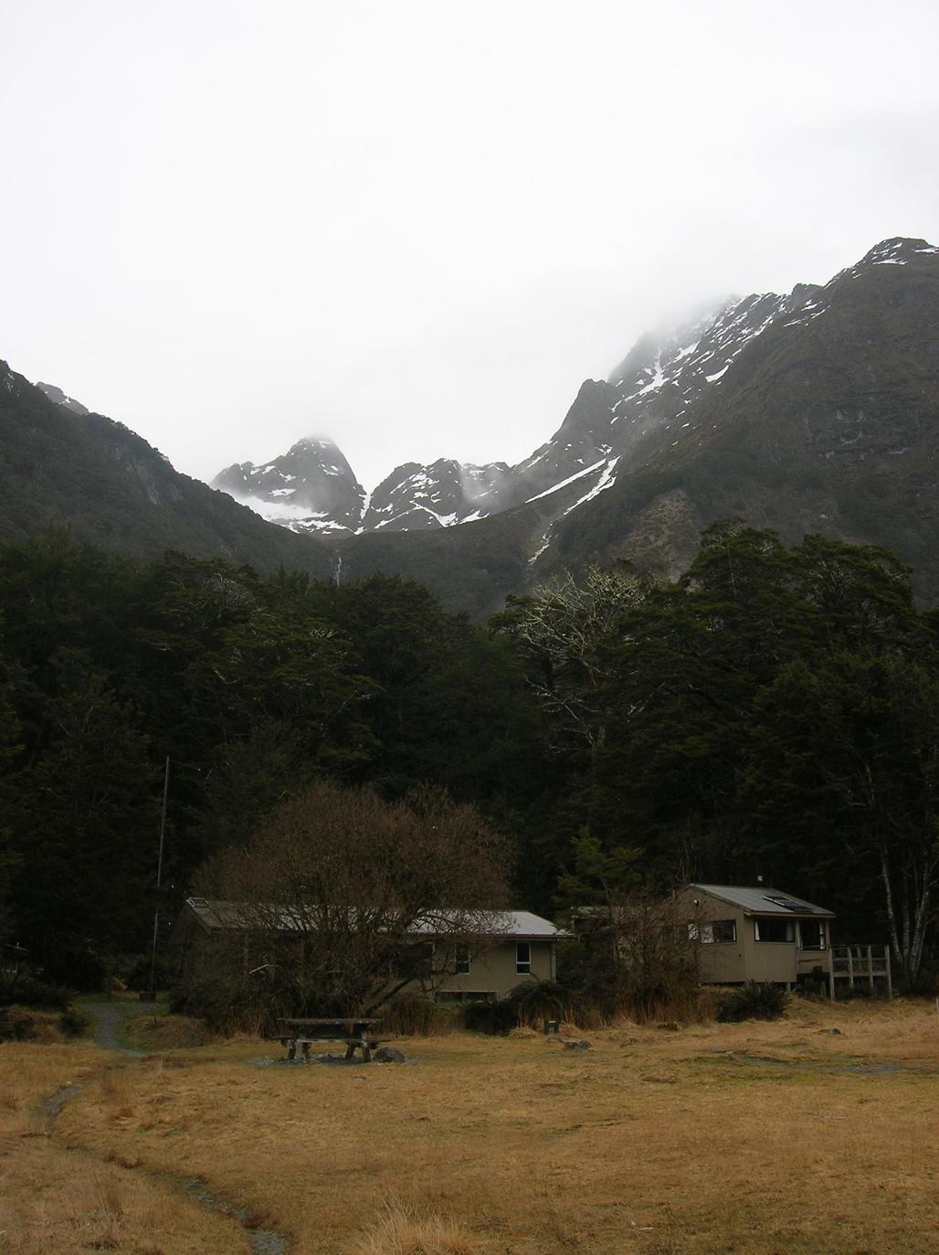 Eine Hütte für Wandersleute
