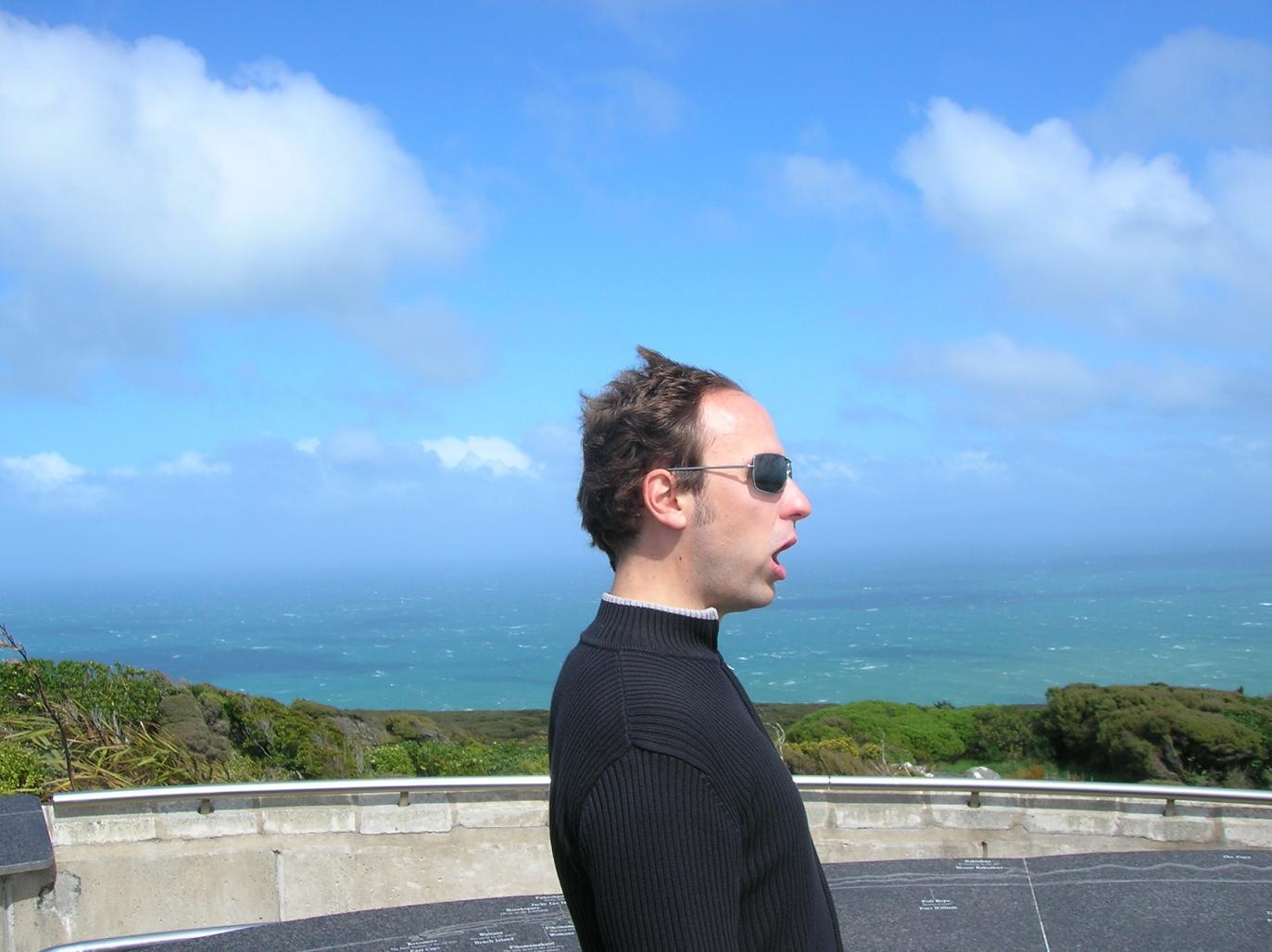 Frisur: Wind von rechts
