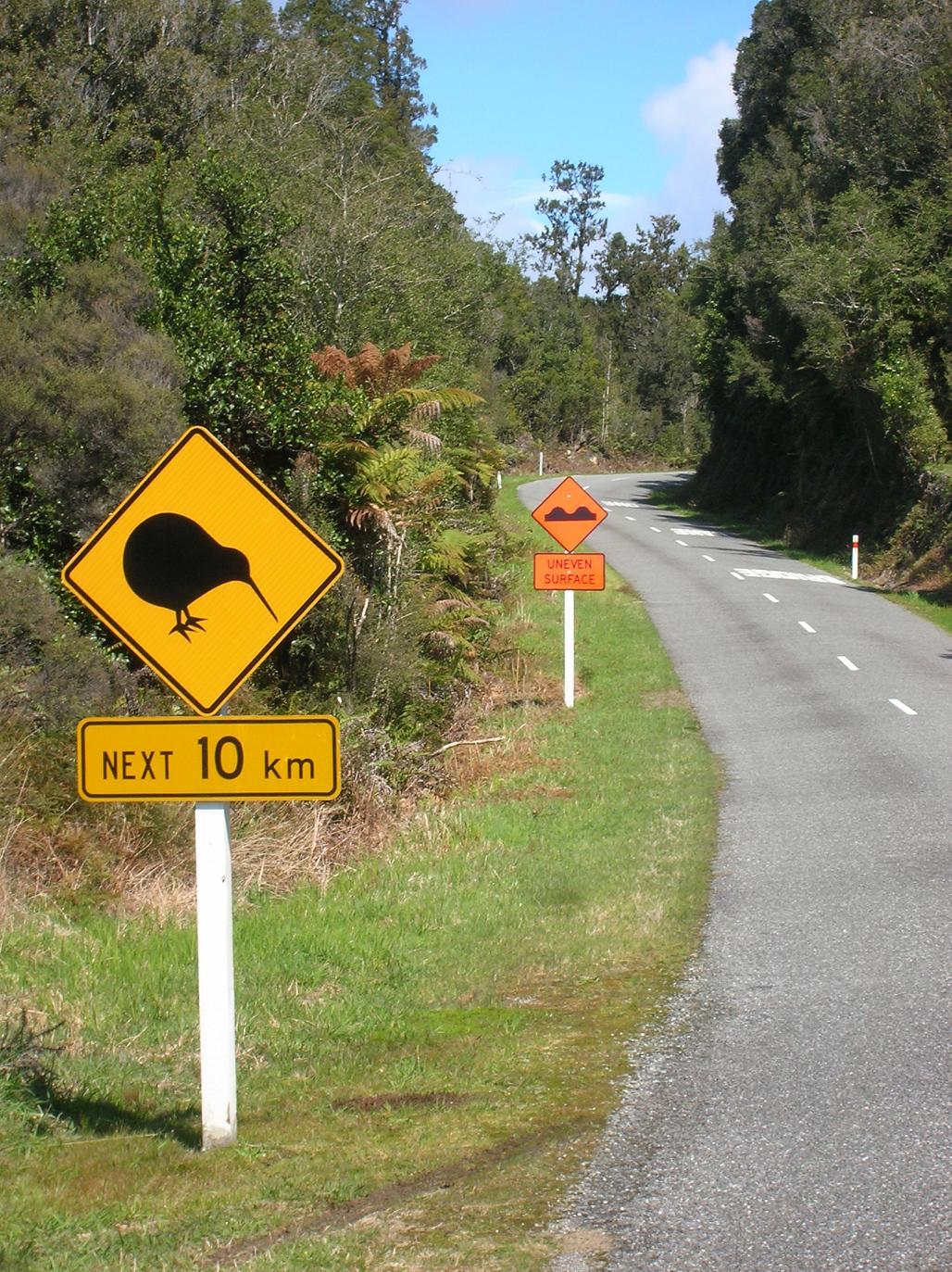 Schilder für Touristen