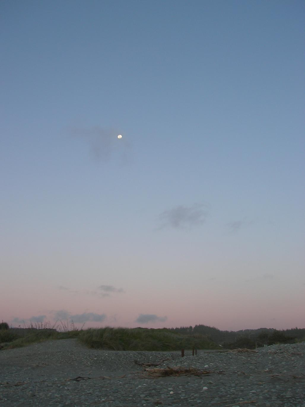 … da hat es selbst der Mond eilig