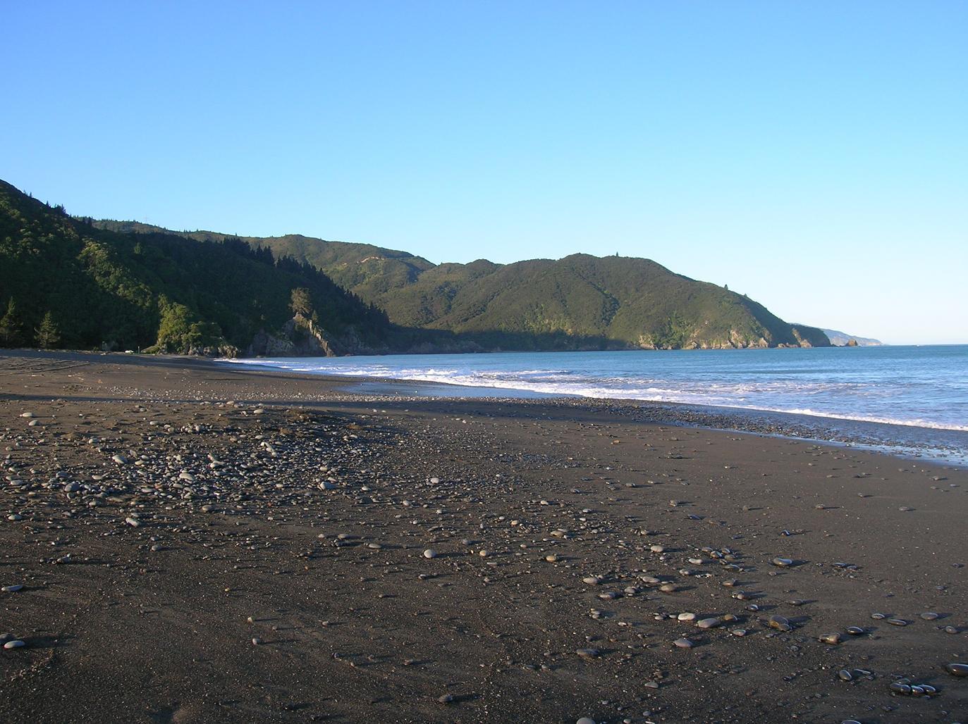 Ein Strand bei Picton